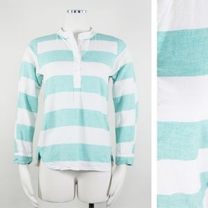 Madewell Broadway & Broome Stripe Linen Pullover S